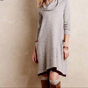 Anthropologie Sparrow Gray Sweater Dress